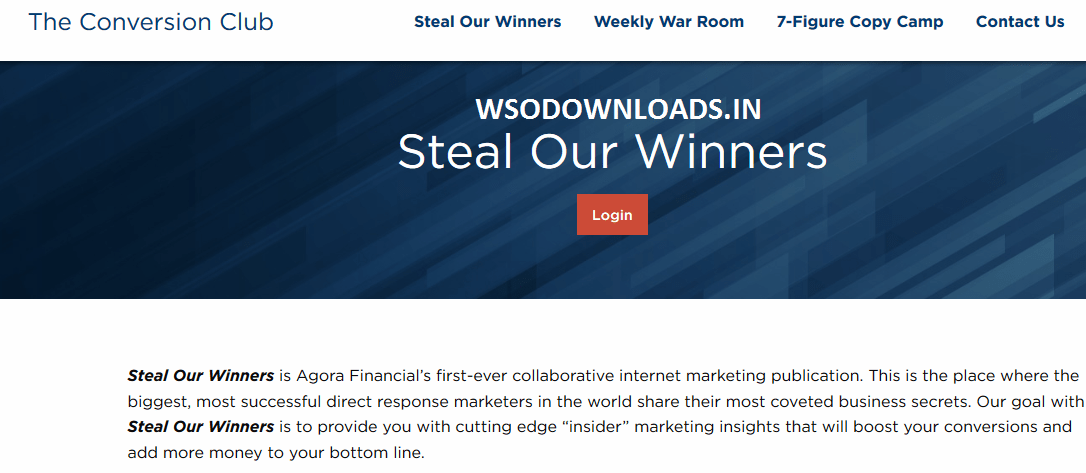 [SUPER HOT SHARE] Agora Financial – Steal Our Winners Download