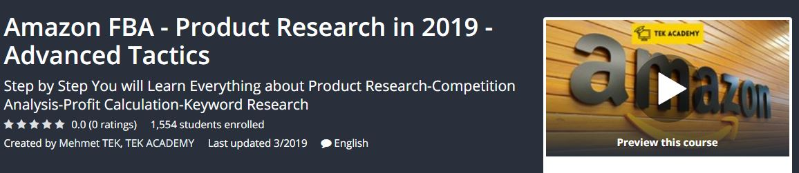 [GET] Amazon FBA – Product Research in 2019 – Advanced Tactics Download