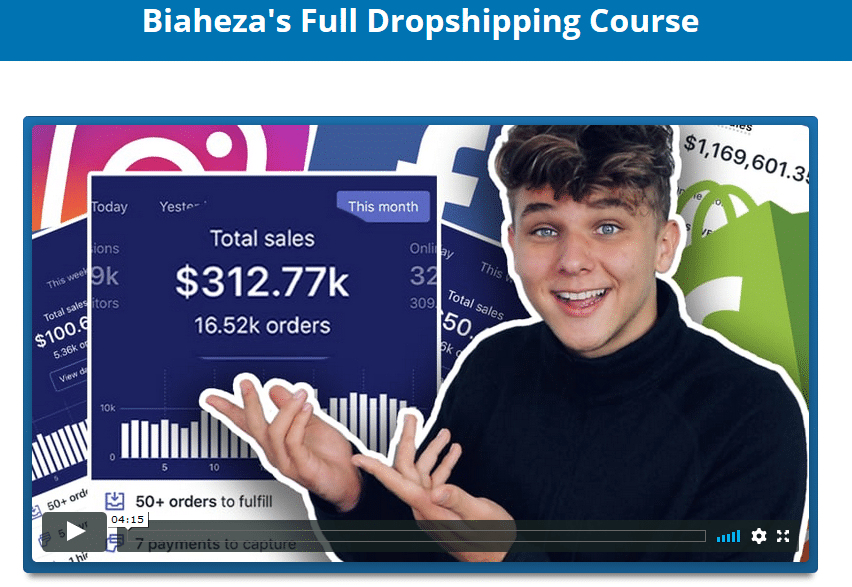 [SUPER HOT SHARE] Biaheza's – Full Dropshipping Course Download