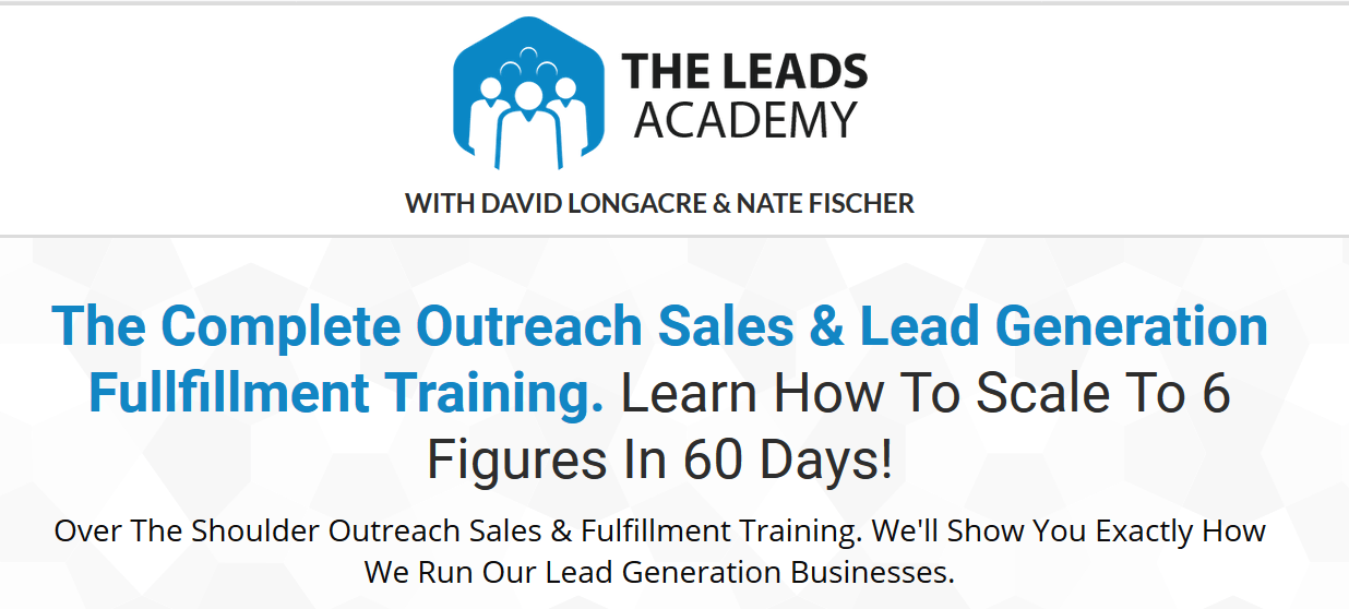 [SUPER HOT SHARE] David Longacre & Nate Fischer – The Leads Academy Download