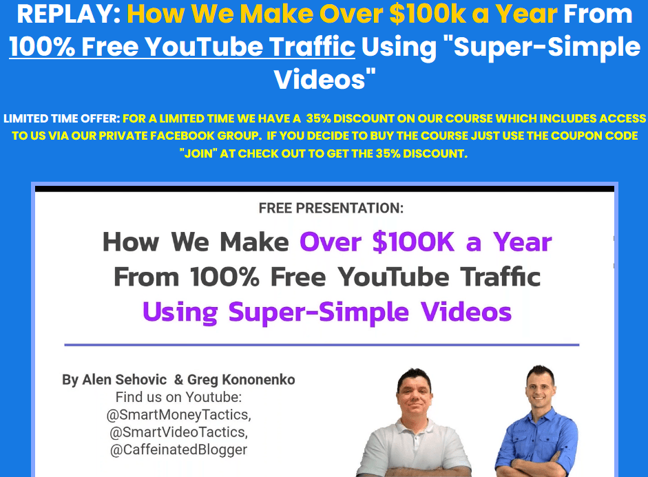 """[SUPER HOT SHARE] Greg Kononenko – Jet Video Academy ( How We Make Over $100k a Year From 100% Free YouTube Traffic Using """"Super-Simple Videos"""") Download"""