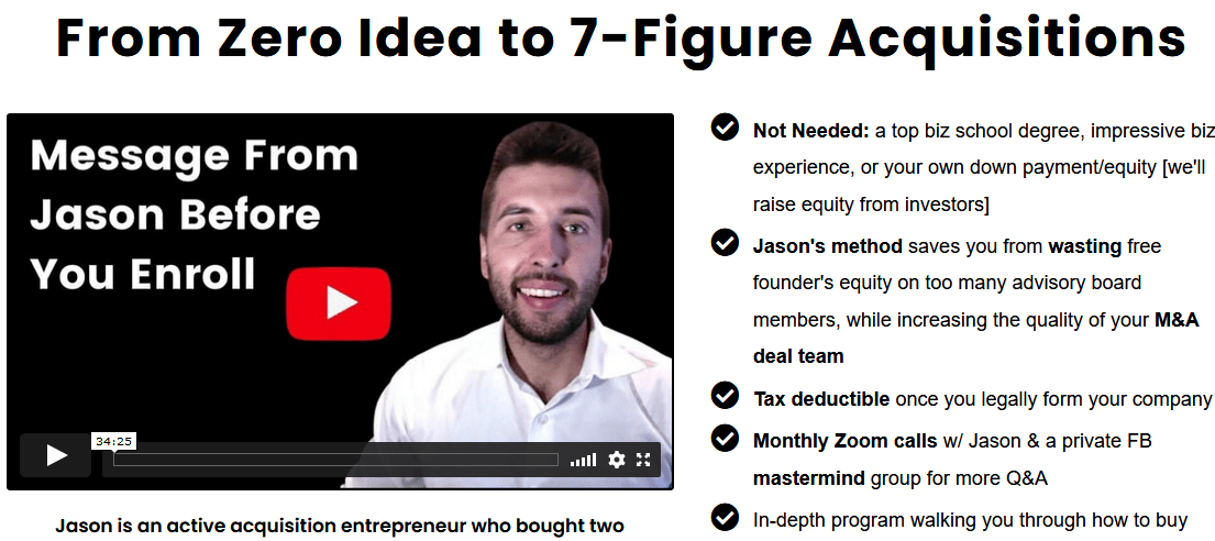 [SUPER HOT SHARE] Jason Paul Rogers – From Zero Idea To 7 Figure Acquisitions Download