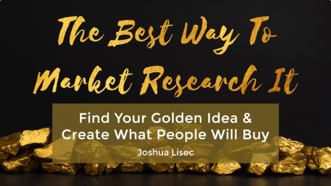 [SUPER HOT SHARE] Joshua Lisec – The Best Way To Market Research It Download