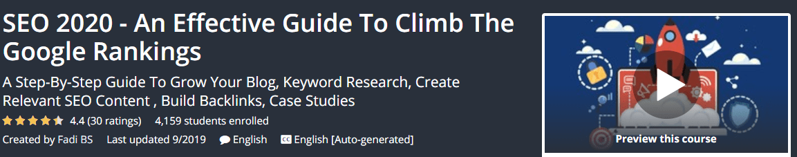 [GET] SEO 2020 – An Effective Guide To Climb The Google Rankings Download