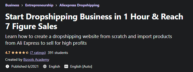 [GET] Start Dropshipping Business in 1 Hour & Reach 7 Figure Sales Free Download