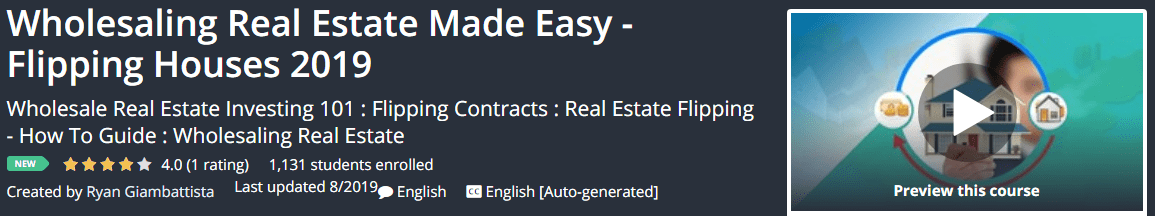 [GET] Wholesaling Real Estate Made Easy – Flipping Houses 2019 Download