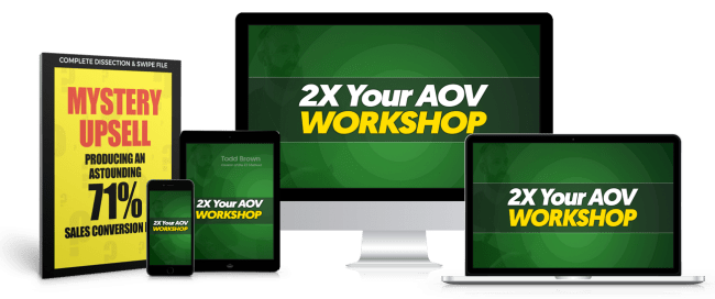 [SUPER HOT SHARE] Todd Brown – 2X Your AOV Virtual Workshop Download
